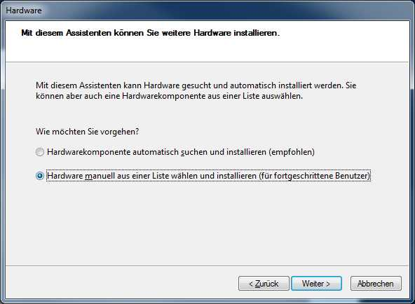 install loopback adpater - step 2